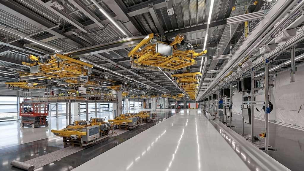 La future ligne d'assemblage du Porsche Macan. © Porsche