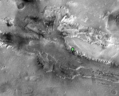 Valles Marineris vue par Google Mars (visible). © Nasa/JPL/Arizona State University