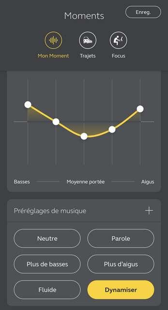 L'application mobile Sound+ de Jabra offre une multitude de réglages. © Marc Zaffagni
