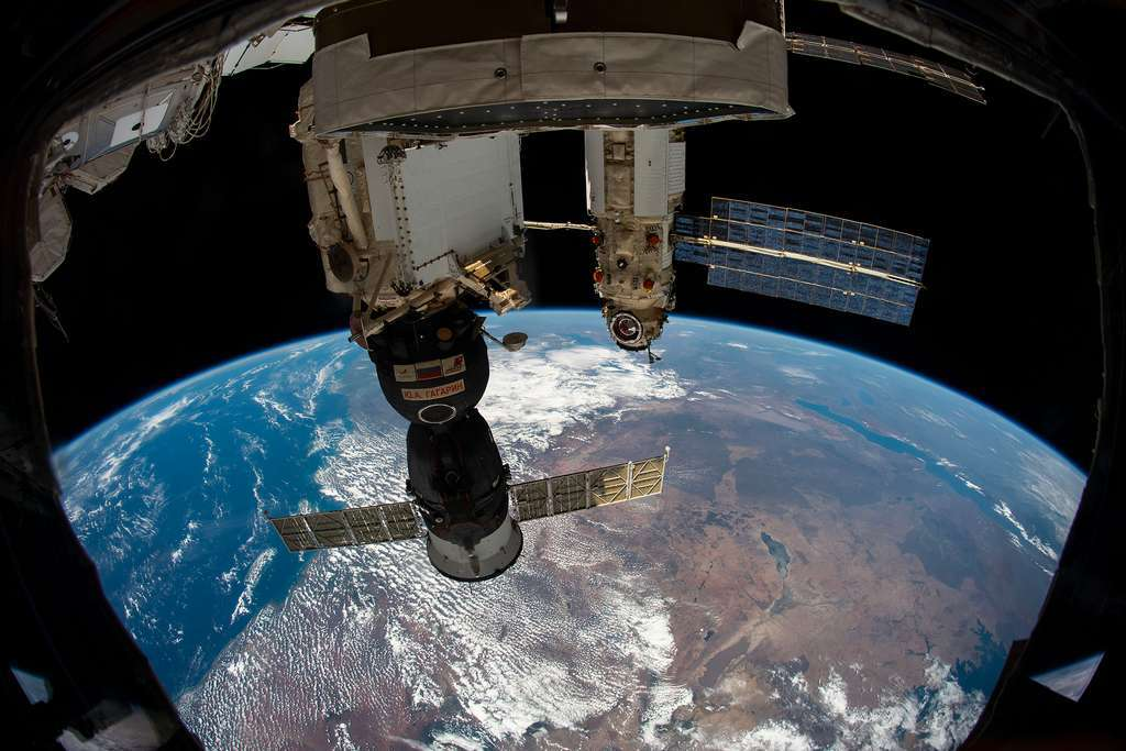 Le module Nauka amarré à Zvezda. © Nasa, Roscosmos