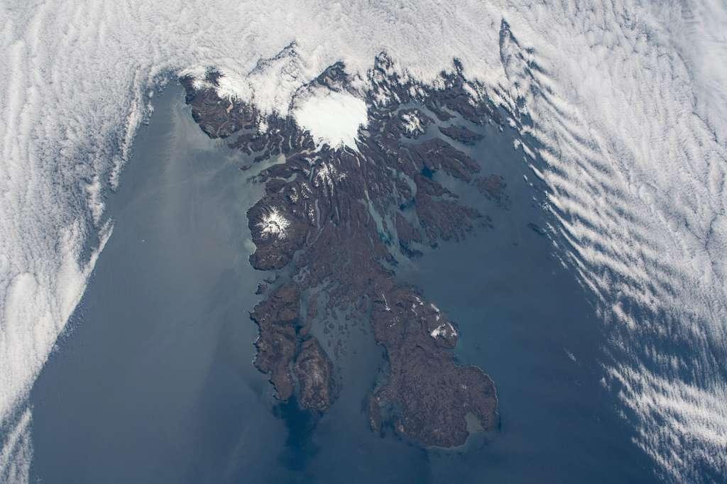 Les îles Kerguelen vues depuis la Station spatiale internationale (ISS). © Nasa