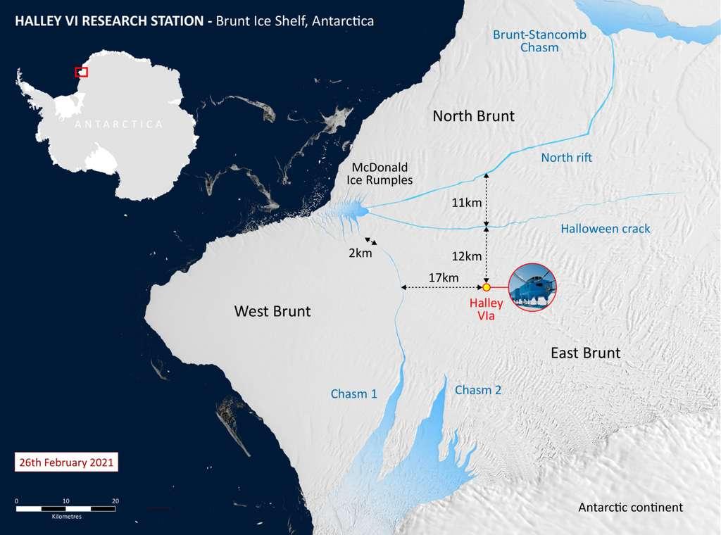 Une carte de la région. © British Antarctic Survey