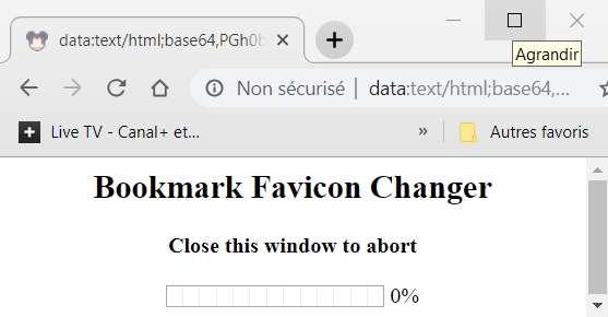 Une fenêtre s'ouvre pendant l'installation de la nouvelle icône, puis se ferme automatiquement au bout de quelques secondes. © pxhere.com