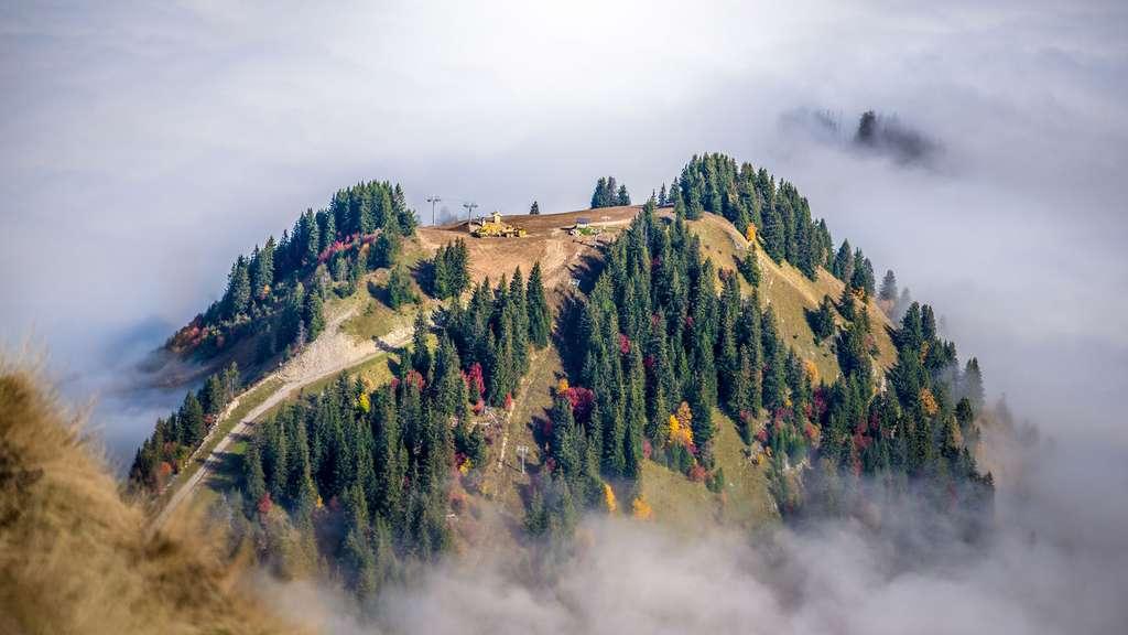 Le Roc d'Enfer dans le Massif du Chablais en Haute-Savoie
