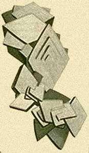 Calcite de Bellecroix - Histoire naturelle des minéraux par Eugène Melchior Louis Patrin, Paris, 1805, p.334, description des cristaux de calcite sableuse dits de Bellecroix en forêt de Fontainebleau, gravure représentant un groupement de cristaux de calcite de Bellecroix.