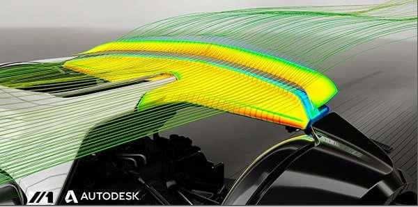 Parmi les matériaux programmables mis au point par le MIT, on trouve un concept d'aileron arrière pour voiture de sport. Réalisée à partir de fibres de carbone traitées avec un matériau sensible à la température, cette pièce se déforme sous l'effet de la chaleur provoquée par la friction de l'air à haute vitesse afin d'accentuer l'appui aérodynamique. © Self-Assembly Lab, MIT, Carbitex LLC, Autodesk Inc