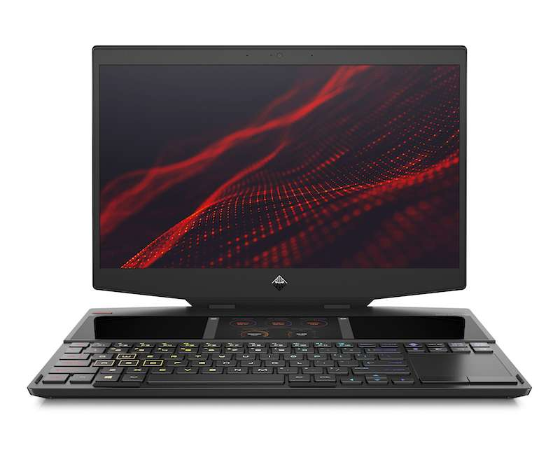 Tout est fait pour le joueur avec un clavier plus bas, un pavé tactile excentré et cette surface de six pouces pour regarder des vidéos ou afficher ses emails. © HP