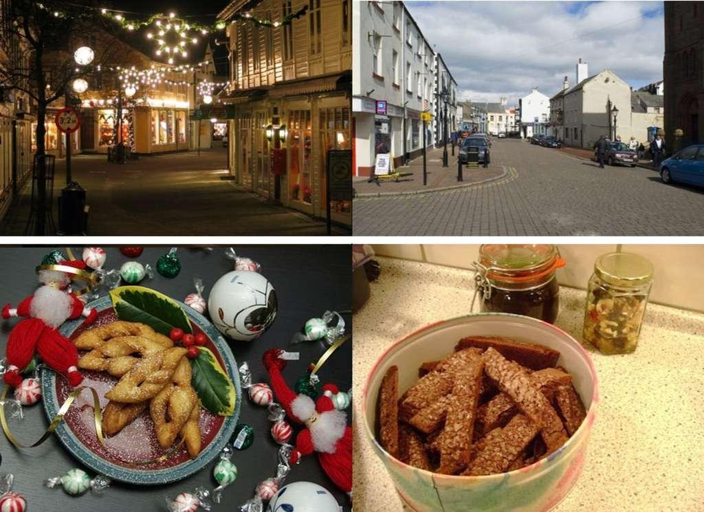 Exemples d'images montrées aux participants, avec certaines évoquant Noël (à gauche) et d'autres non (à droite). © Hougaard et al. 2015, BMJ