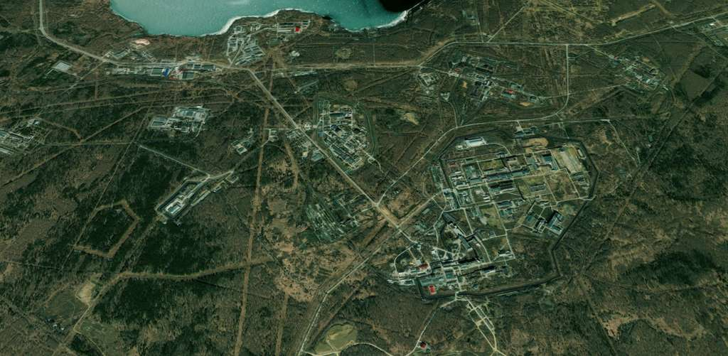 L'usine de retraitement de combustible nucléaire de Maïak en Russie. © Apple Plans