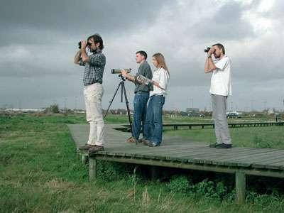 Groupe d'observateurs dans les marais de Rochefort - Crédits LPO - Tous droits réservés