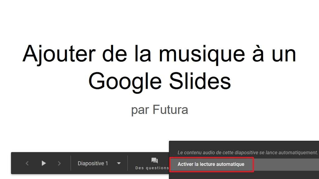 Vous devez activer la lecture automatique avant de commencer votre présentation. © Google Inc.