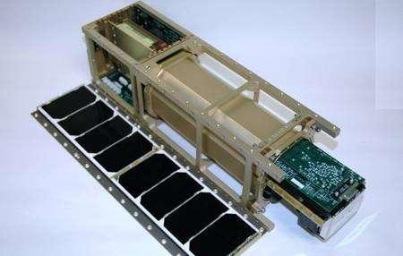 L'expérience PharmaSat, entièrement automatisée, ne pèse que quelques kilogrammes. © MicroSatellite Free Fligher / Nasa