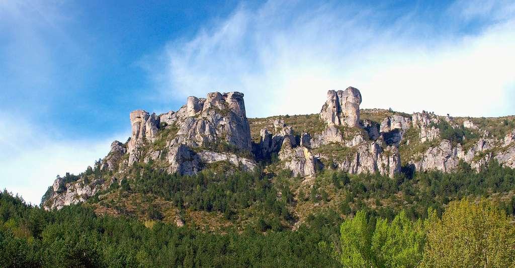 Les contreforts du Causse Méjean au Sud-ouest de Florac. © Pierre Bona, Wikimedia commons, DP