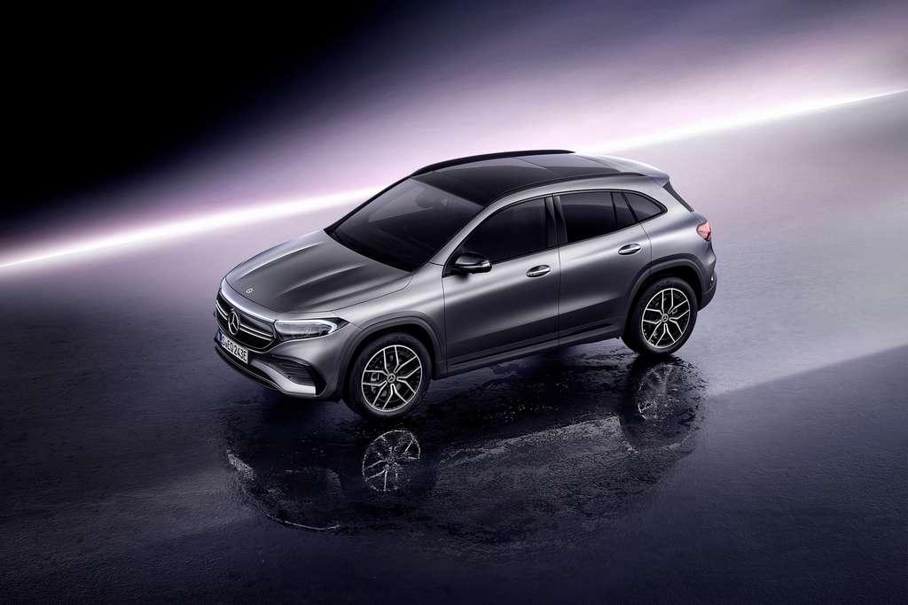 La ligne du Mercedes EQA 250 est largement dérivée de celle du Mercedes GLA. © Mercedes