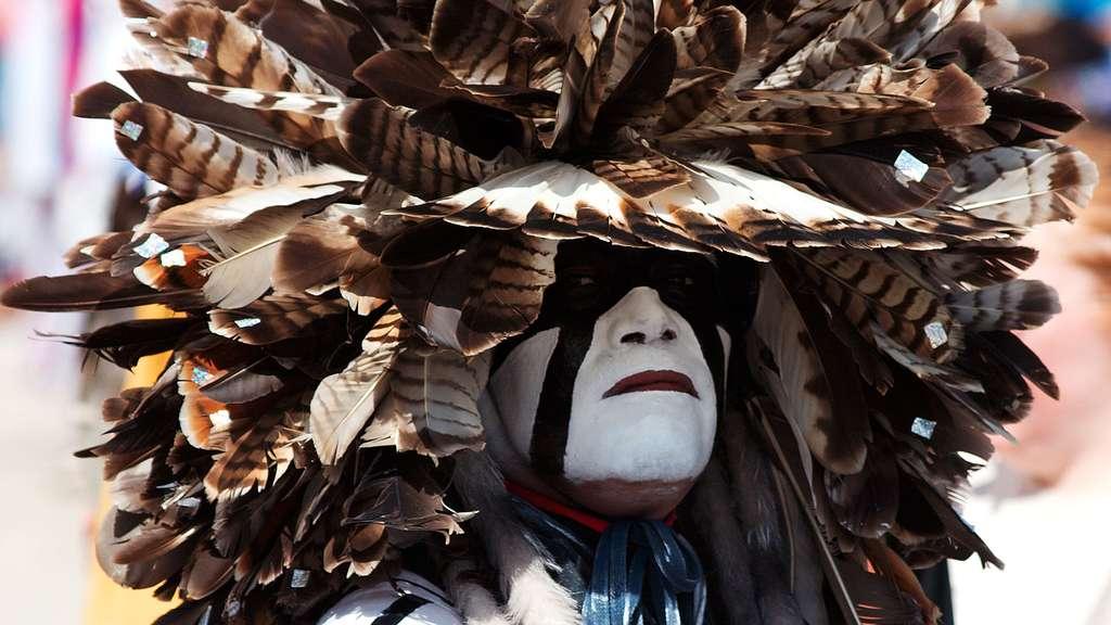 Un festival de musiques amérindiennes, aux États-Unis