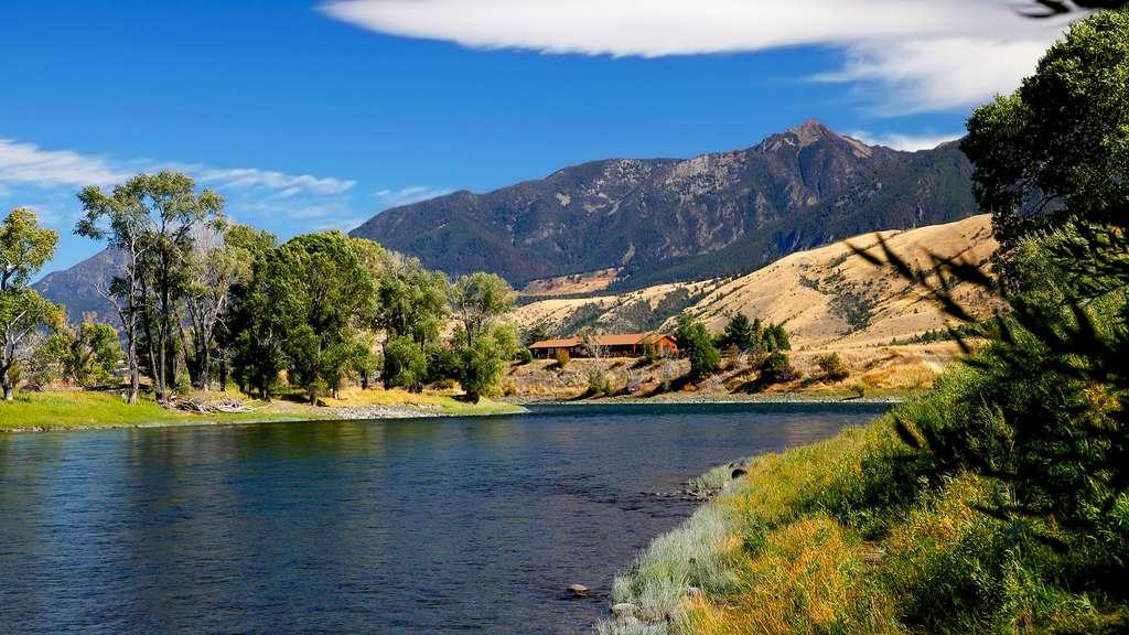 La rivière Yellowstone dans un moment calme