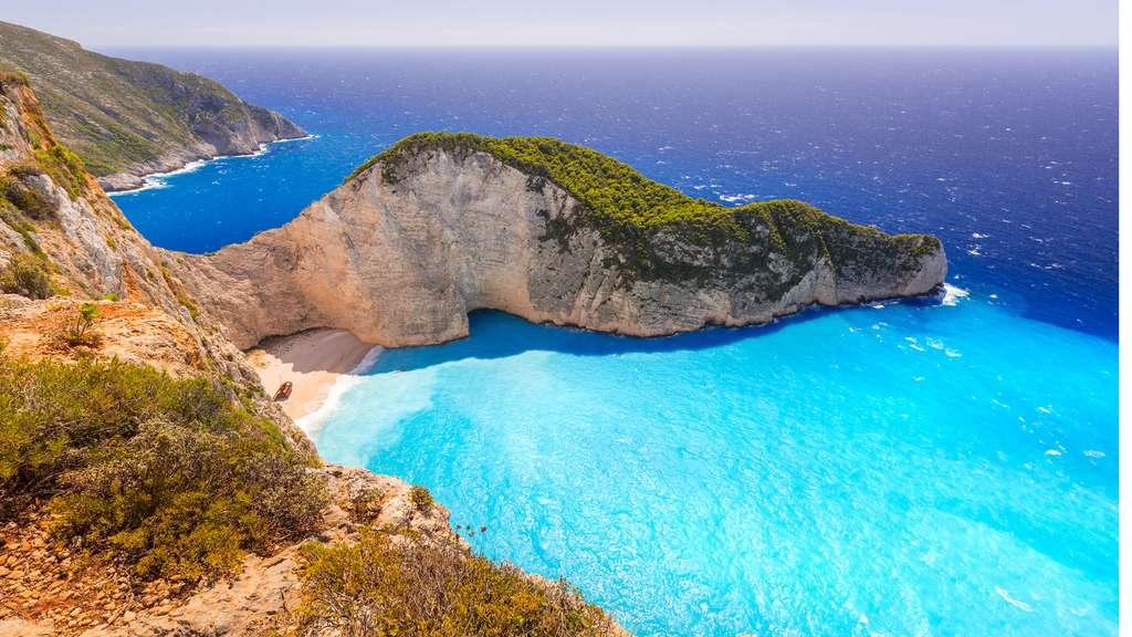 Une plage grecque où l'on aimerait bien s'échouer