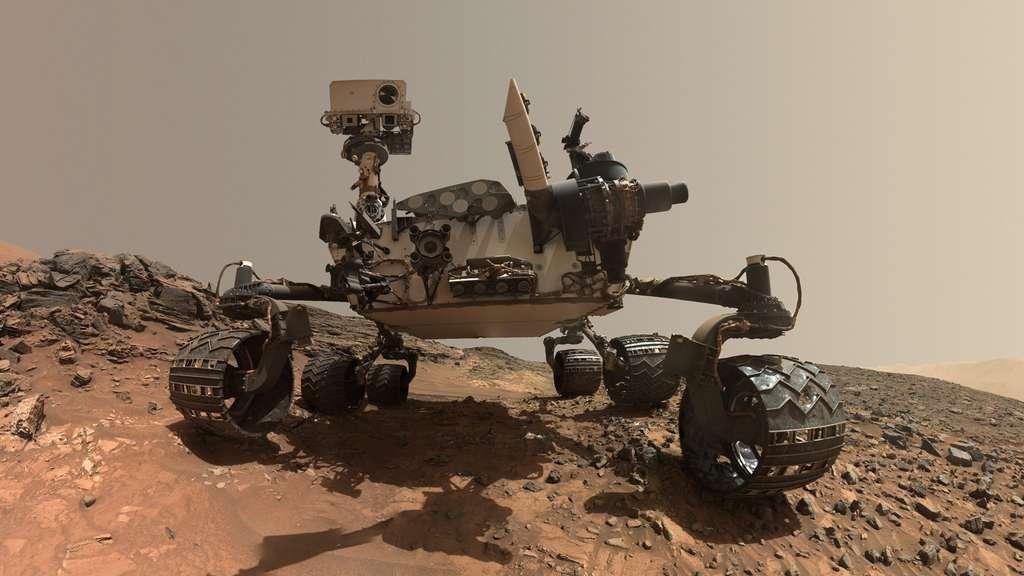 Le rover Curiosity, en opération sur Mars depuis 2012. © Nasa, JPL/Caltech