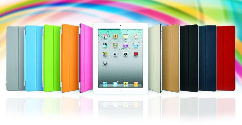Les tablettes tactiles s'enrichissent d'accessoires qui plaisent beaucoup au grand public. Un exemple : la smart cover d'Apple, pour l'iPad. © Apple