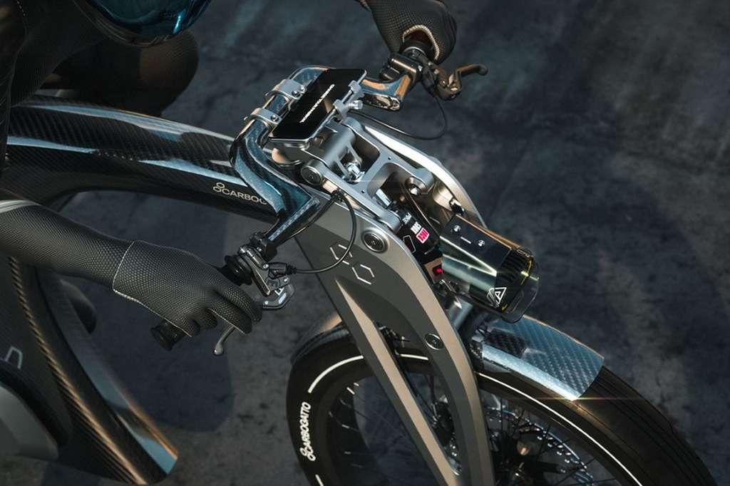 La suspension avant du Carbogatto H7 © Carbogatto