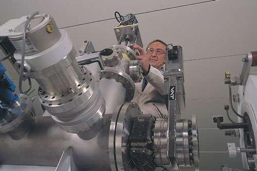 Détail de la plateforme Peren, du LPSC de Grenoble. Cet instrument dédié à la neutronique permettra aux chercheurs de valider les technologies pour les réacteurs à sels fondus, l'un des concepts retenus pour la quatrième génération de centrales nucléaires. © L. Médard/CNRS Photothèque/IN2P3