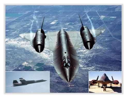 """Les """"blackbirds"""": SR-71 (A-12 OXCART) au service du Renseignement des Etats-Unis. Ils sont aujourd'hui remplacés par les Aurora et autres ailes volantes © Documents A.F.Link"""