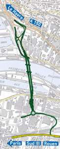 Géographie du pont Gustave Flaubert