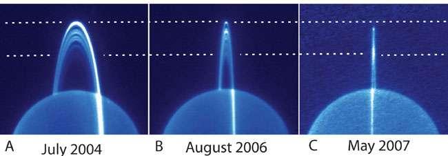Uranus vue en infrarouge par le Keck II