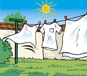 Un lavage à 30°C consomme 3 fois moins d'énergie qu'un lavage à 90°C et un lavage à froid consomme 2 fois moins qu'un lavage à 40°C. Quant au séchage au grand air, il est gratuit. © Ademe