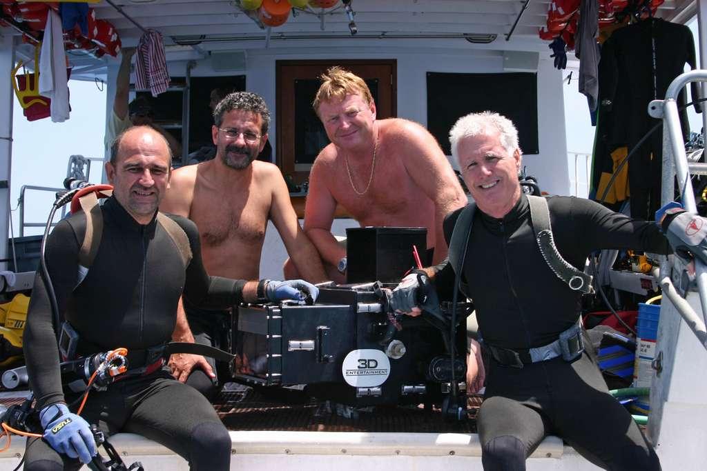 L'équipe du film Voyage sous les mers 3D
