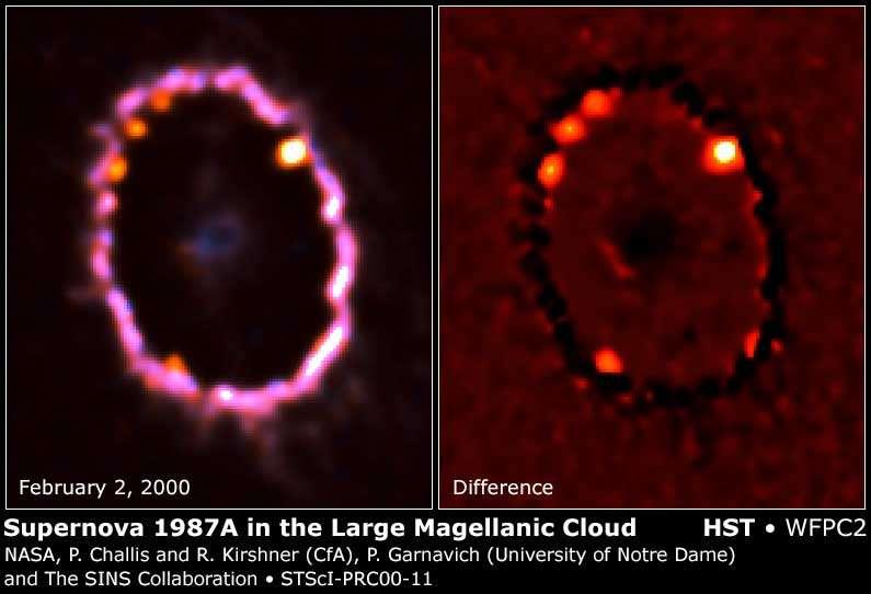 expansion de la supernova 1987A