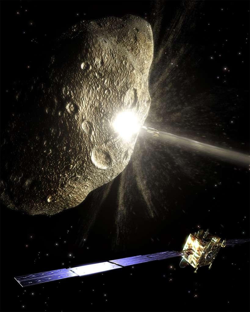 L'ancien projet d'étude baptisé Don Quichotte, pour dévier un astéroïde. © ESA
