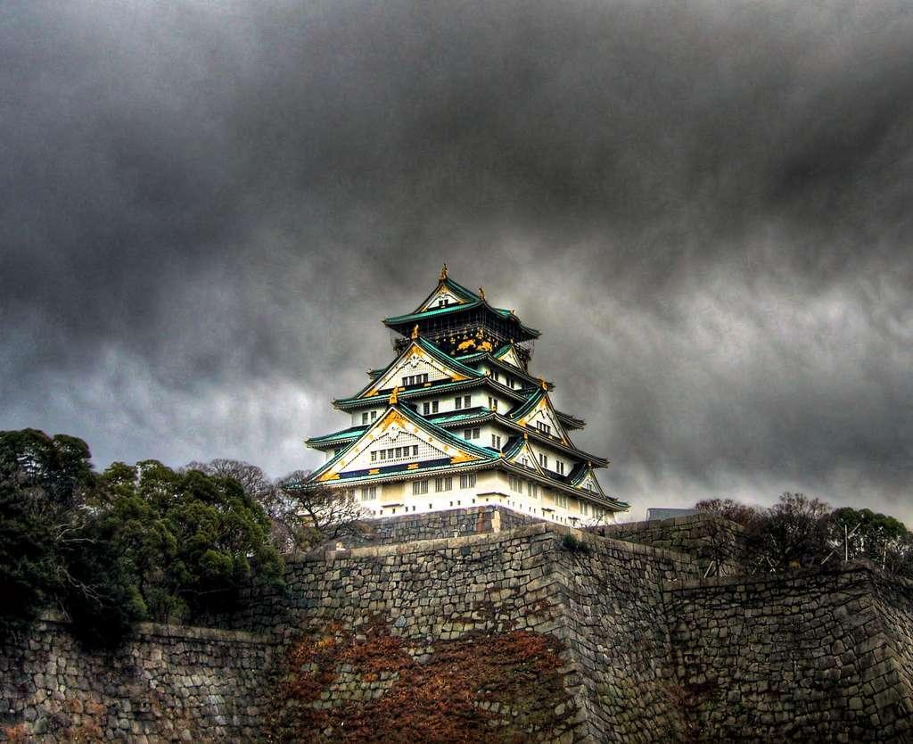 Le château d'Osaka au Japon. © Coop, Flickr