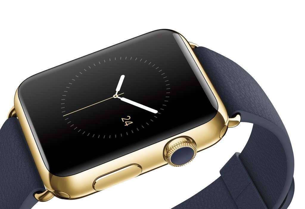 L'Apple Watch s'affiche non pas comme une énième montre connectée, mais comme un objet de luxe. La marque à la pomme n'hésite pas à aller se frotter aux grands noms de l'horlogerie en proposant un modèle pourvu d'un boîtier en or 18 carats dont le prix peut dépasser les 15.000 euros. © Apple