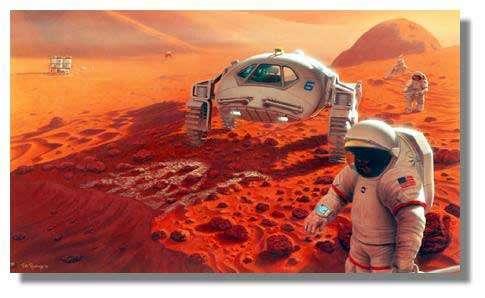 Un véhicule pressurisé à grande autonomie donnera à l'équipage l'autonomie indispensable pour rayonner vers des sites géologiques variés. Crédits : NASA