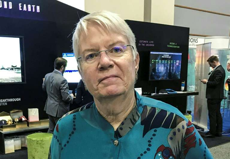 Jill Tarter, du Seti Institute, le 23 octobre 2019 au 70e Congrès astronautique international à Washington. © Ivan Couronne, AFP Photo
