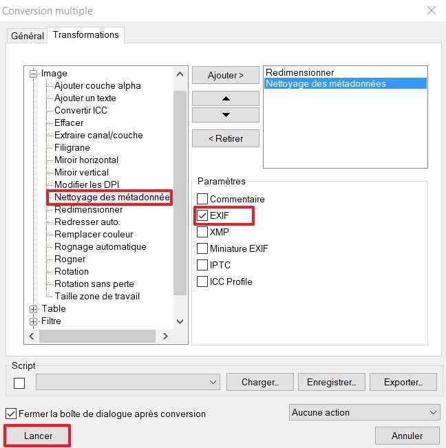 Effacer les métadonnées de vos fichiers permet de protéger votre vie privée si vous mettez les images en ligne. © XnSoft