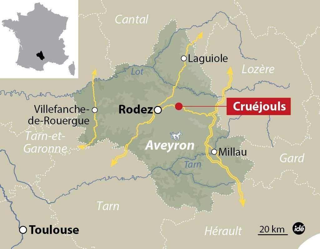 Le nouveau foyer de grippe aviaire a été détecté dans un élevage de canards à Cruéjouls, dans l'Aveyron. © idé