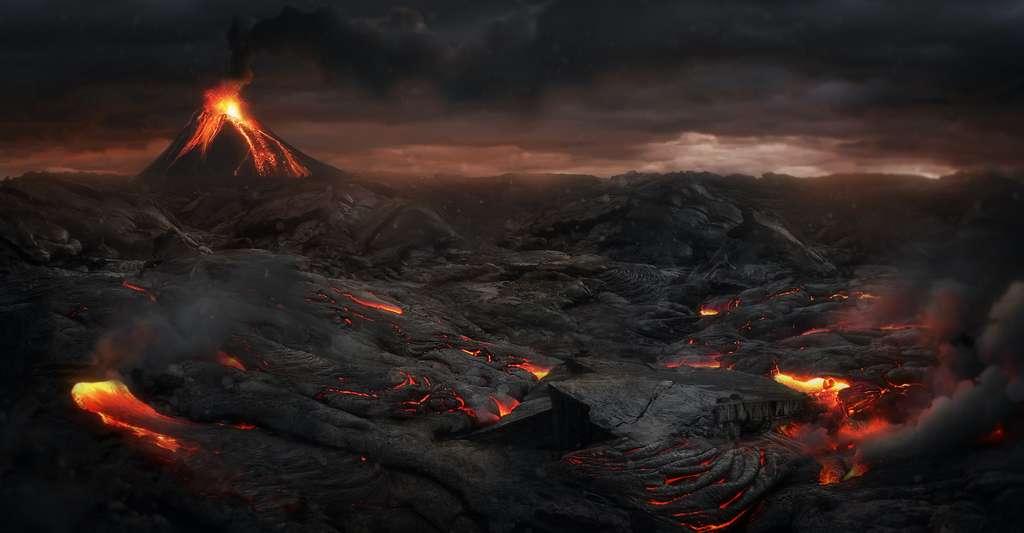 À partir de 536, une succession d'éruptions volcaniques a plongé le monde dans l'obscurité pendant de longs mois. © Jagoush, Adobe Stock