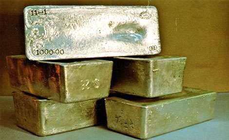 Les lingots d'or possèdent leur certificat.