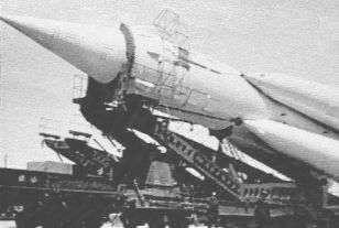 Lanceur Semiorka ayant mis en orbite le premier satellite artificiel, Spoutnik 1, le 4 octobre 1957. crédits : RKK/Energya