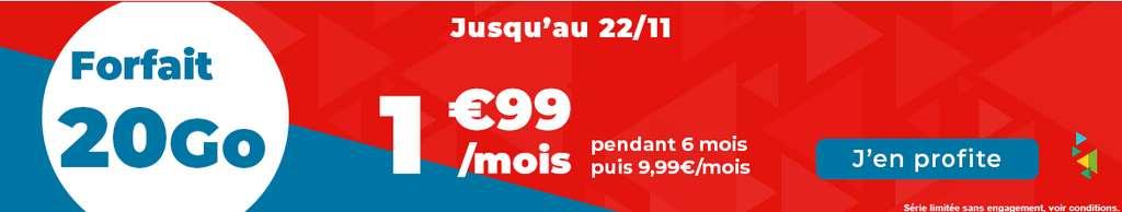 Promo 30Go à 1.99 €/ mois © Auchan Télécom