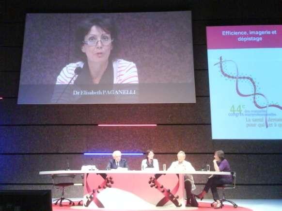 Pour Élisabeth Paganelli (à l'écran, et deuxième en partant de la gauche), « en cas de doute, l'important est de faire un test de grossesse ». © DR