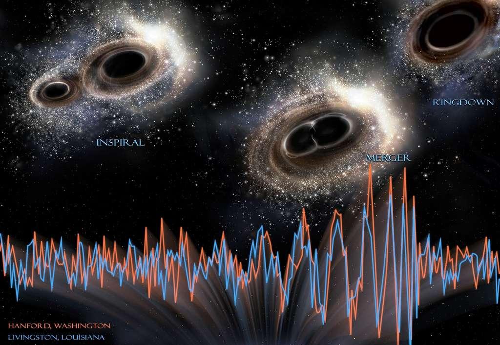 Les ondes gravitationnelles ont été détectées pour la première fois en 2015. © Ligo, NSF, Aurore Simonnet