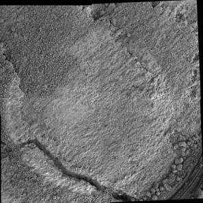 Le rocher Cheyenne analysé par Opportunity (Crédits : Mars Exploration Rover Mission, Cornell, JPL, NASA)