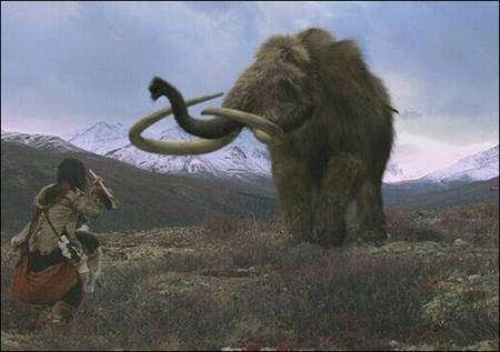 L'homme ne serait pas la cause principale de la disparition des mammouths (Crédit : Discovery Communications).