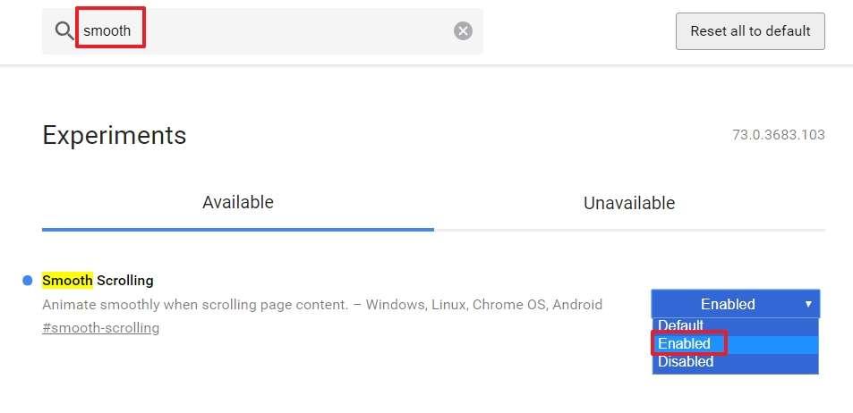 Smooth Scrolling vous permet de faire défiler une page web avec plus de délicatesse. © Google Inc.