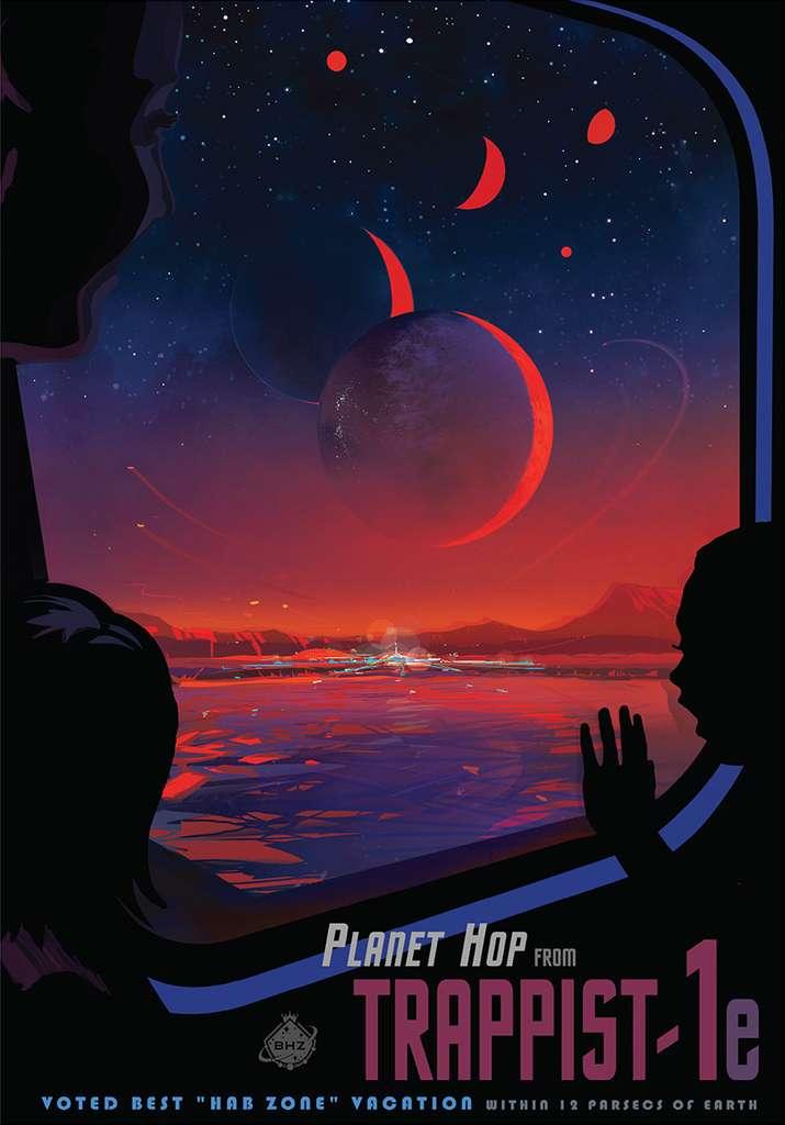 Pourra-t-on un jour aller visiter les planètes du système de Trappist-1, comme ici Trappist-1e ? S'agit-il de mondes habitables foisonnants de vie ou de mondes désertiques, à l'instar de Vénus et Mars ? Comptez quarante années de voyage à la vitesse de la lumière pour y aller. © Nasa, JPL-Caltech