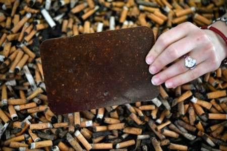 Une entreprise du Finistère propose de recycler les mégots de cigarette en plaques d'acétate de cellulose. © Fred Tanneau, AFP