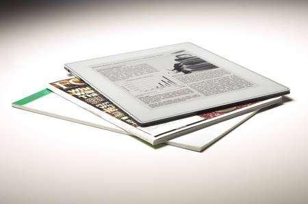 Non, ce n'est pas un magazine. C'est un appareil électronique... © Plastic Logic